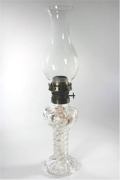 Glass Oil Lamp Invention